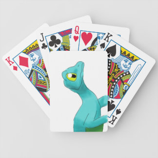 Digital Watercolor Winged Gecko Animal Bicycle Playing Cards