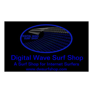 Digital Wave Right Perspective Poster