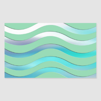 Digital Waves Image Rectangular Sticker