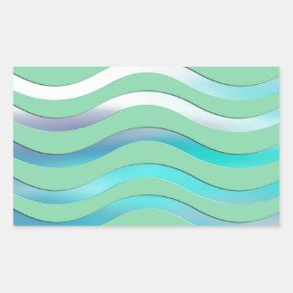 Digital Waves Image Rectangle Sticker