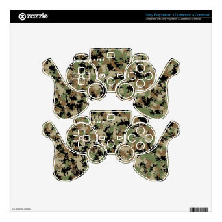 Digital Woodland Camo- PS3 Controller Decal For PS3 Controller