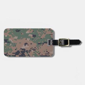 Digital Woodland Camouflage Bag Tags