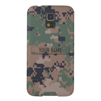 Digital Woodland Camouflage Customizable Galaxy S5 Covers