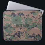 "Digital Woodland Camouflage Customizable Computer Sleeve<br><div class=""desc"">The digital camouflage pattern as seen on modern marine soldiers' uniforms used in jungle combat environments.</div>"