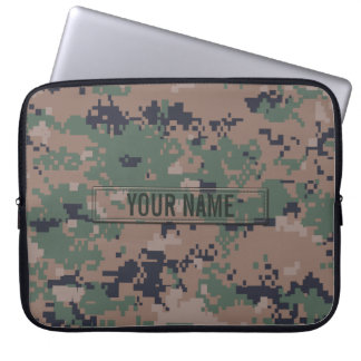 Digital Woodland Camouflage Customizable Computer Sleeve