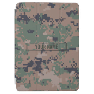 Digital Woodland Camouflage Customizable iPad Air Cover