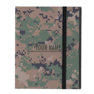 Digital Woodland Camouflage Customizable iPad Folio Cases