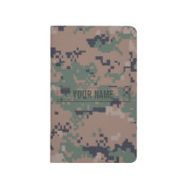 Digital Woodland Camouflage Customizable Journal