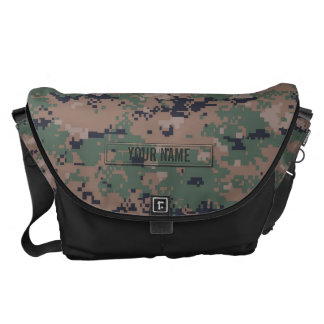 Digital Woodland Camouflage Customizable Courier Bag