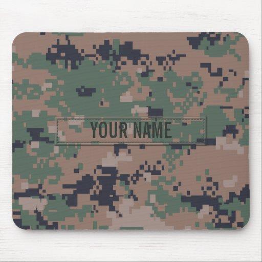 Digital Woodland Camouflage (Customizable) Mouse Pad