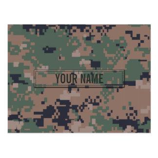 Digital Woodland Camouflage Customizable Postcard