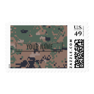 Digital Woodland Camouflage Customizable Stamp