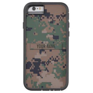 staticnoise Digital Woodland Camouflage Customizable Tough Xtreme iPhone 6 Case