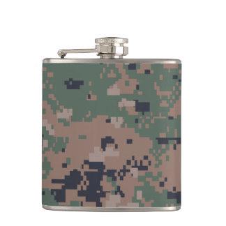 Digital Woodland Camouflage Flask