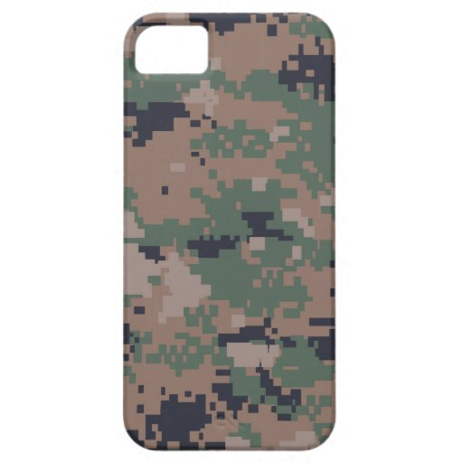 Digital Woodland Camouflage iPhone 5/5S Covers