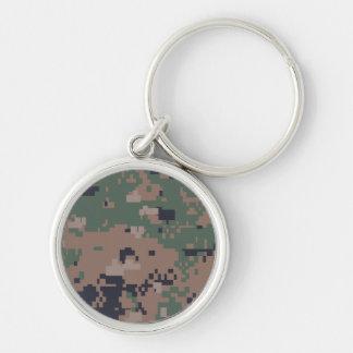 Digital Woodland Camouflage Keychain