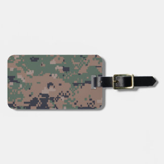 Digital Woodland Camouflage Luggage Tag