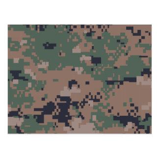 Digital Woodland Camouflage Postcard