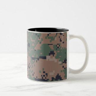 Digital Woodland Camouflage Two-Tone Coffee Mug