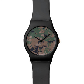 Digital Woodland Camouflage Watch