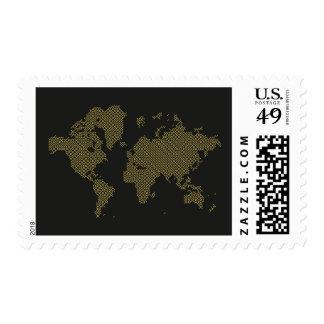 Digital World Map Postage