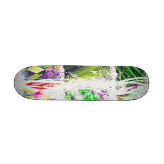 """digital world"" custom skate board"