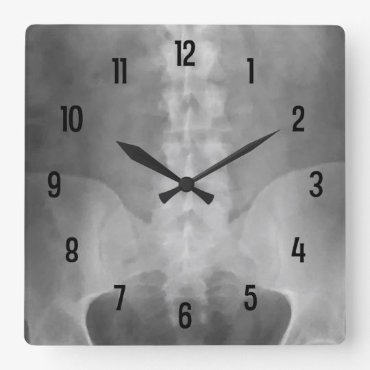 Digital X Ray Art Wall Clock Zazzle