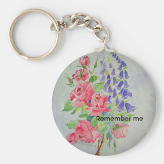Digitalis and Roses Keychain