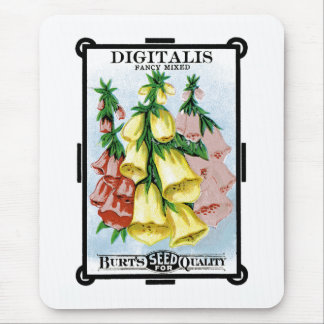 Digitalis Seed Packet Label Mouse Pad