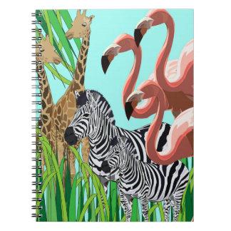 Digitalised animal montage notebook