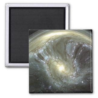 Digitally altered galaxy 2 inch square magnet