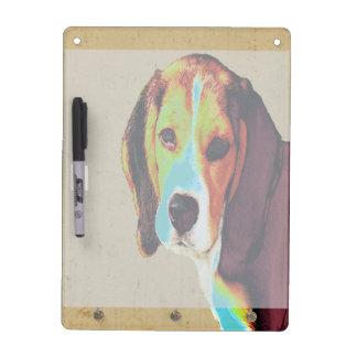 Digitally Colored  Beagle Dry Erase Board