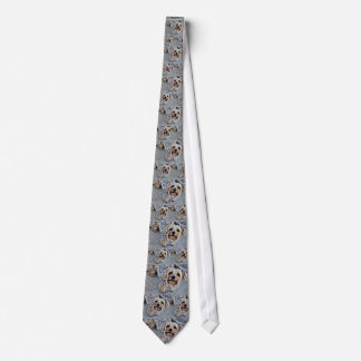 Digitally Colored Yorkie Dog Neck Tie