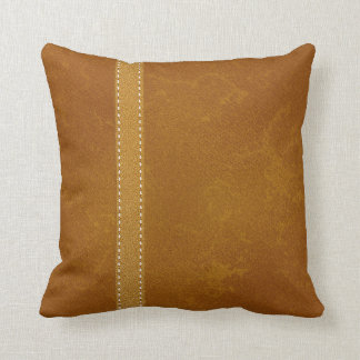 Digitally Created Deer Hide Leather and Strap Throw Pillow