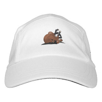 Digitally Drawn Bay or Brown Horse Rolling on Back Hat