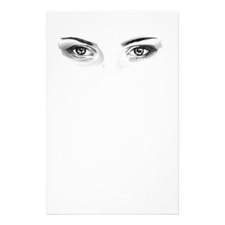 Digitally drawn eyes stationery