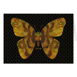 "Digitally Embossed Golden ""Flutterbys"" Note Card"