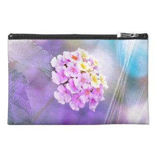 Digitally Enhanced Flower Travel Accessory Bag