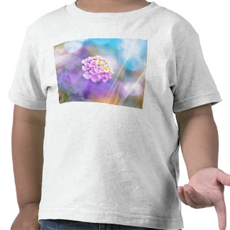 Digitally Enhanced Flower Tshirt