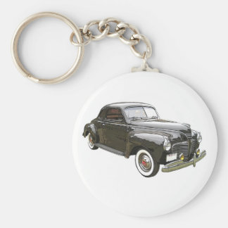 Digitally enhanced image of a black 1941 Plymouth Keychain