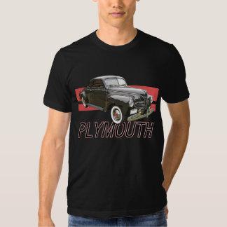 Digitally enhanced image of a black 1941 Plymouth T-shirt