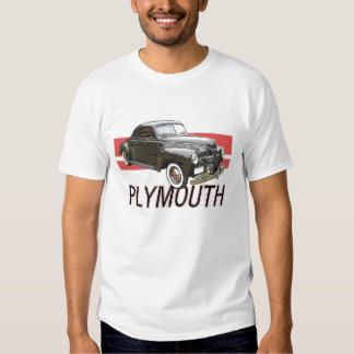 Digitally enhanced image of a black 1941 Plymouth Tee Shirt