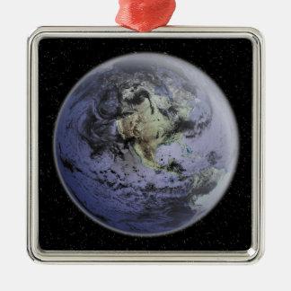 Digitally enhanced image of the Full Earth Metal Ornament