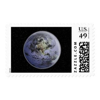 Digitally enhanced image of the Full Earth Stamp