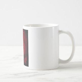 Digitally enhanced red rose in full bloom coffee mug