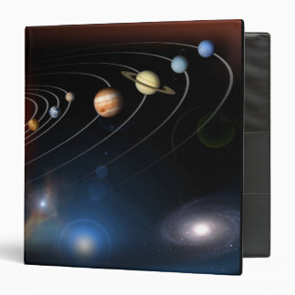 Digitally generated image of our solar system 3 ring binder