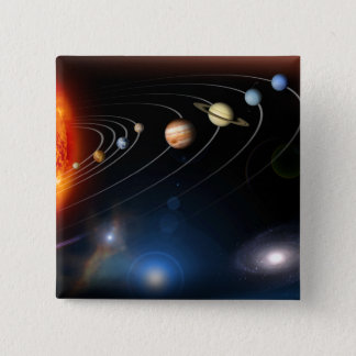 Digitally generated image of our solar system button