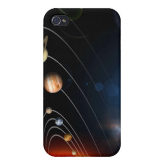 Digitally generated image of our solar system cases for iPhone 4