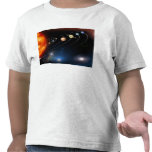 Digitally generated image of our solar system tees