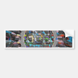 Digitally painted Artistic Diamond Car Bumper Sticker